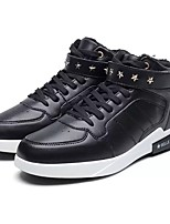 Men's Shoes PU Winter Comfort Sneakers For Casual Black/White Black White