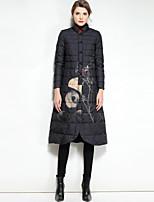 economico -Standard Piumino Da donna,Cappotto Romantico Moda città Casual Per uscire Con stampe Poliestere Manica lunga