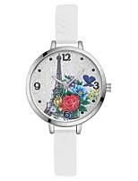Жен. Наручные часы Китайский Кварцевый Крупный циферблат Силикагель Группа На каждый день Elegant Цветной Черный Белый Синий Красный