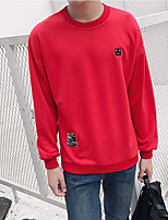 cheap -Men's Daily Going out Sweatshirt Print Round Neck Micro-elastic Polyester Long Sleeves Winter Fall