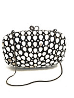 Women Bags Glasses Metal Evening Bag Crystal Detailing for Wedding Event/Party Spring Fall Black
