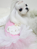 Dog Dresses Dog Clothes Lace Princess Blue Pink Costume For Pets