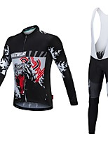 Malciklo Camisa com Calça Bretelle Unisexo Manga Longa Moto Camisa/Roupas Para Esporte Tights Bib Lista Reflectora Secagem Rápida Design