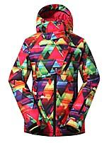 GSOU SNOW Women's Ski Jacket Warm Waterproof Windproof Wearable Breathability Skiing Ski/Snowboarding Eco-friendly Polyester Silk Cloth