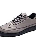 Men's Shoes Leatherette All Season Comfort Loafers & Slip-Ons Split Joint For Casual Coffee Gray Black