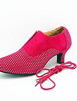 cheap -Women's Modern Faux Suede Heel Indoor Splicing Customized Heel Blue Brown Fuchsia 2 - 2 3/4 Customizable