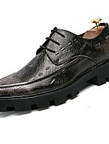 Men's Shoes PU Spring Fall Comfort Oxfords For Casual Black
