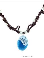 cheap -Men's Women's Geometric Fashion Pendant Necklace Resin Flannel Toison Pendant Necklace , Daily