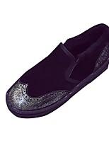 Недорогие -Для женщин Обувь Флис Зима Осень Зимние сапоги Светодиодные подошвы Ботинки На плоской подошве Круглый носок Ботинки Назначение