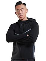 Homme Veste de Course Manches Longues Garder au chaud Respirable Sweat à capuche pour Course Fitness Noir Rugueux noir S M L XL XXL