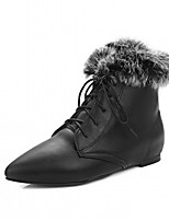 cheap -Women's Shoes Leatherette Spring Winter Fashion Boots Bootie Boots Flat Heel Pointed Toe Booties/Ankle Boots Buckle For Casual Office &