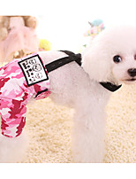 preiswerte -Hund Hosen Hundekleidung Lässig/Alltäglich Geometrisch Fuchsia Blau Kostüm Für Haustiere