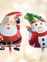cheap -2pcs/set - 18inch Santa Claus and Snowman Foil Balloons Beter Gifts® Christmas Party Decoration
