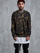 cheap -Men's Going out Sweatshirt Print Cotton