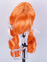 Chien Tiares & Couronnes Perruque Vêtements pour Chien Elégant Rayures Orange Costume Pour les animaux domestiques