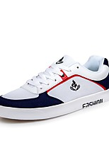 cheap -Men's Shoes PU Spring Fall Light Soles Sneakers For Casual Blue Red Black