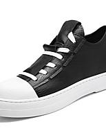 Недорогие -Для мужчин обувь Искусственное волокно Весна Осень Светодиодные подошвы Кеды для Повседневные Белый Черный