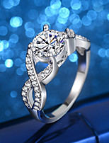 cheap -Women's Engagement Ring Band Rings Cubic Zirconia Rhinestone Vintage Elegant Silver Cubic Zirconia Infinity Jewelry For Wedding Evening