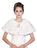 Sleeveless Faux Fur Wedding Party / Evening Women's Wrap With Laces Lace-up Capelets