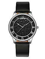 cheap -Men's Women's Casual Watch Fashion Watch Quartz Chronograph Leather Band Casual Elegant Halloween Black
