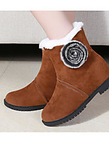 cheap -Women's Shoes Nubuck leather Fall Winter Comfort Snow Boots Boots For Casual Brown Gray Black