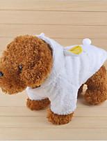 economico -Gatto Cane Cappottini Felpe con cappuccio Abbigliamento per cani Casual Tenere al caldo Lettere & Numeri Bianco Costume Per animali