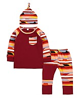 cheap -Baby Girl's Daily Wear Daily Rainbow Clothing Set