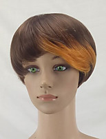 Women Synthetic Wig Capless Short Straight Blonde Pixie Cut Celebrity Wig Natural Wigs Costume Wig