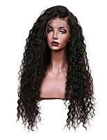 Glueless Loose Curly Lace Front Human Hair Wigs Pre Plucked Brazilian Remy Hair Bleached Knot