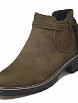 cheap -Women's Shoes PU Spring Fall Comfort Boots For Outdoor Khaki Army Green Black
