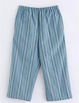 Pantalons Fille Rayé Coton Automne