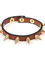 cheap -Men's Women's Bracelet Rock Hiphop Leather Alloy Circle Taper Shape Jewelry For Evening Party Carnival