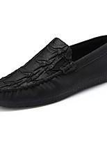Homme Chaussures PU de microfibre synthétique Similicuir Polyuréthane Toute Saison Confort Moccasin Mocassins et Chaussons+D6148 Pour