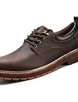 cheap -Men's Shoes Cowhide Spring Fall Comfort Sneakers For Casual Brown Coffee Black