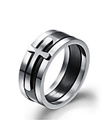 Men's Band Rings Multi Layer Vintage Titanium Steel Cross Jewelry For Wedding Party