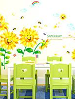 Autocollants muraux floraux / botaniques avion stickers muraux stickers muraux décoratifs, vinyle matériel décoration murale sticker
