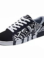 cheap -Men's Shoes PU Spring Fall Comfort Sneakers For Casual Black/Red Dark Blue Black
