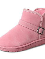 cheap -Women's Shoes Rubber Winter Snow Boots Boots Round Toe For Outdoor Khaki Pink Gray Black