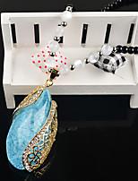 Жен. Ожерелья с подвесками Стразы Сплав европейский Милый Мода Бижутерия Назначение Повседневные