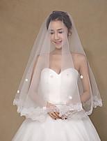 Wedding Veil One-tier Fingertip Veils Tulle / Lace Wedding Accessories