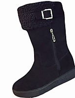 cheap -Women's Shoes Rubber Winter Snow Boots Boots Round Toe For Outdoor Khaki Gray Black
