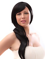 Women Synthetic Wig Capless Long Black Natural Wigs Costume Wig