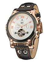 Недорогие -FORSINING Муж. Повседневные часы Модные часы Наручные часы С автоподзаводом Календарь Кожа Группа На каждый день Cool