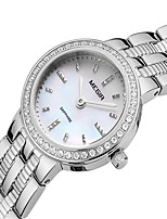 MEGIR Mulheres Relógio Casual Relógio de Moda Relógio Elegante Relógio de Pulso Quartzo Aço Inoxidável Banda Casual Elegant