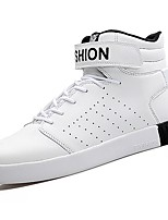 cheap -Men's Shoes PU Spring Fall Comfort Sneakers For Casual Black/Red Black White