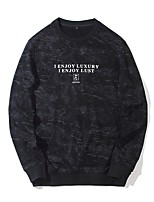 cheap -Men's Daily Sweatshirt Letter Polyester