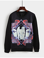 Men's Daily Sweatshirt Print Polyester