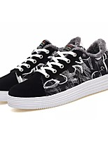 cheap -Men's Shoes PU Spring Fall Fluff Lining Light Soles Sneakers For Casual & Black/White