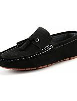 Masculino sapatos Camurça Primavera Outono Mocassim Mocassins e Slip-Ons Para Casual Preto Marron Azul