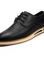 Men's Shoes PU Spring Fall Comfort Oxfords For Casual Brown Gray Black